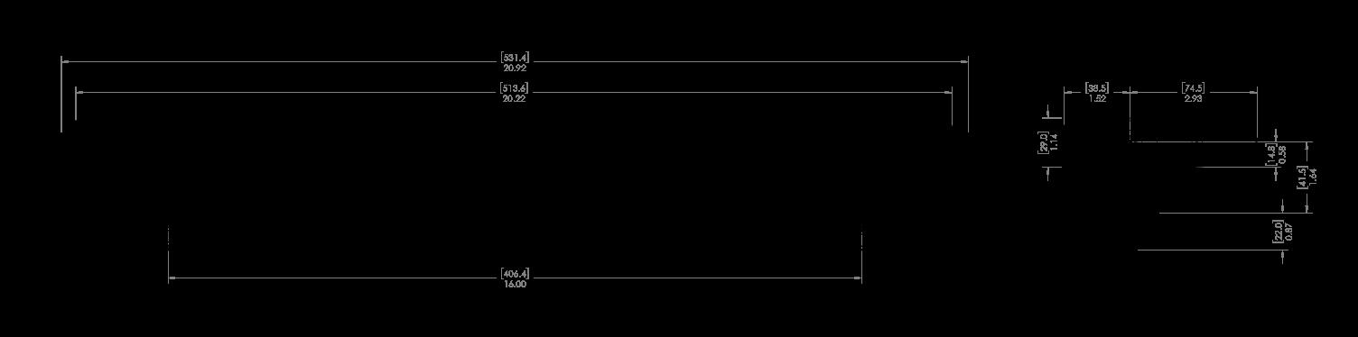 """mpower® ORV 18'"""" Lightbar Schematic"""