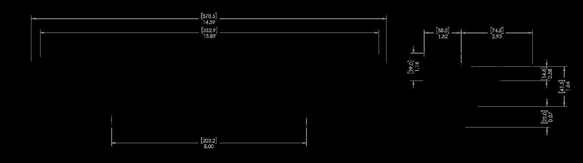 """mpower® ORV 12"""" Lightbar Schematic"""